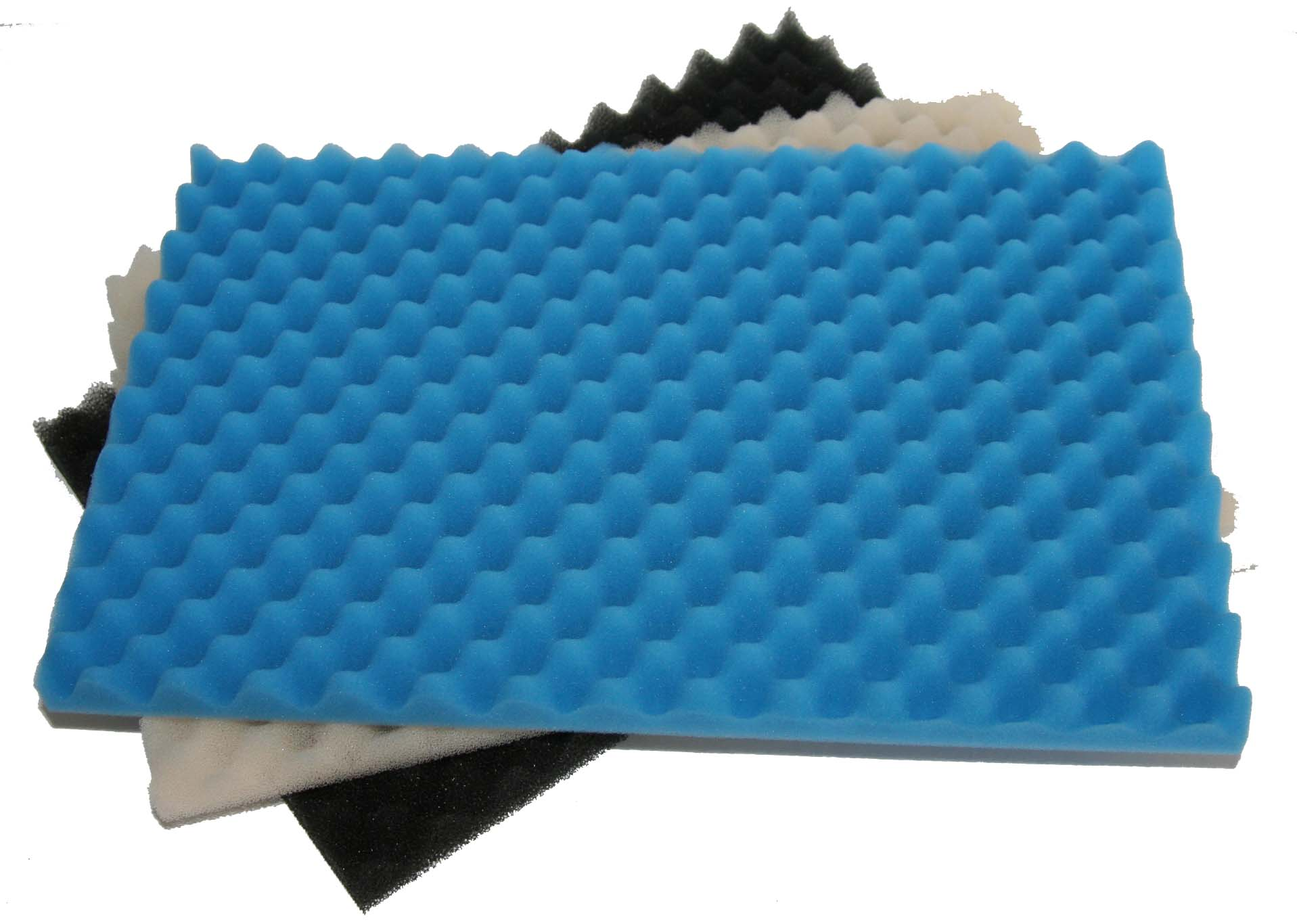 3 piece profiled foam pond filter set small for Pond filter foam